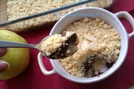 cuisiner le petit 駱eautre fee kitchen crumble poire au chocolat 巧克力梨子派