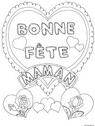 Coloriage Fete Des Meres Bonne Fete Maman Dessin à Imprimer  Fête