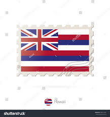 Flags In Hawaii Postage Stamp Image Hawaii State Flag Stock Vector 398412106