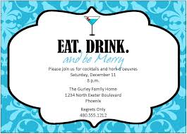excellent blue color with floral pattern cocktail party invitation