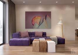 living room living room with geometric artwork interior design