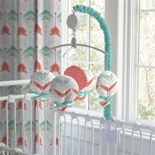 coral and teal arrow mobile carousel designs