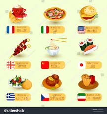 food international cuisine decorative icons ภาพประกอบสต อก