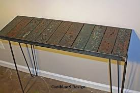 Hairpin Leg Console Table Buy Hand Crafted Console Table Sofa Table Reclaimed Wood From