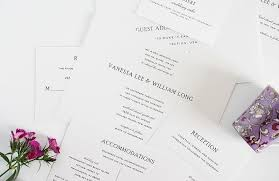 exles of wedding programs simple vintage wedding invitation complete package set wedding