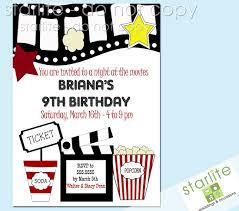 movie birthday party invitations reduxsquad com