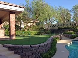Small Backyard Putting Green Synthetic Grass Benson Arizona Golf Green Small Backyard Ideas