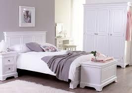 White Painted Pine Bedroom Furniture White Painted Three Door Large Wardrobe