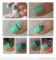 how to do dream catcher nails turquoise green polish nail art
