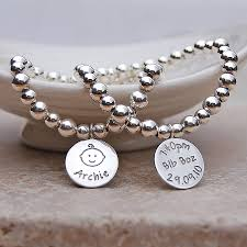 customized baby jewelry personalised silver new bracelet by indivijewels