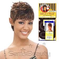 milky way hair belle human hair weave milky way short cut series sg 27pcs samsbeauty