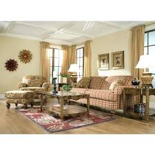 Colorful Chairs For Living Room Plaid Furniture Living Room Mountain Style Medium Tone Wood Floor