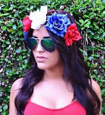 4th of july headbands fourth of july flower crown headband inspired by