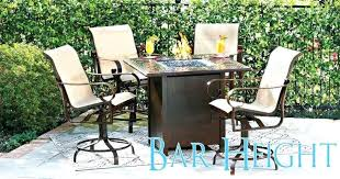 Patio High Dining Set Bar Height Outdoor Dining Set 5 All Weather Wicker Patio Bar