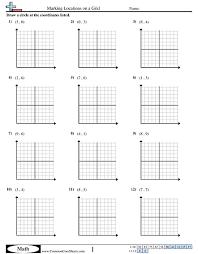 math grid worksheets worksheets