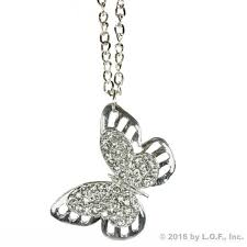 silver bling butterfly rear view mirror car charm ornament clear