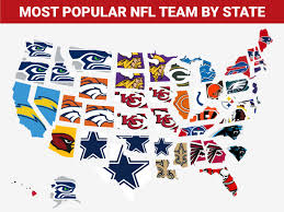 map the most popular nfl team in every state business insider