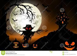 halloween background ghost halloween background with ghost scary house and pumpkins on the