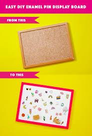 turn a cork board into an enamel pin display board zabby allen