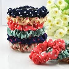 hair rubber bands fashion hair rubber bands dot elastic hair bands clothing