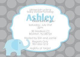 baby shower invitations impressive elephant baby shower