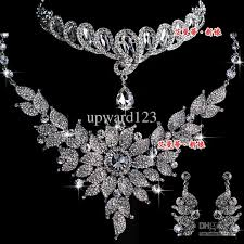 jewelry set hot wedding jewelry set diamond heronsbill necklaces earrings