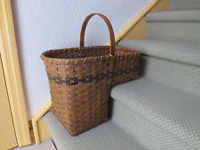 wicker décor baskets with handle ebay