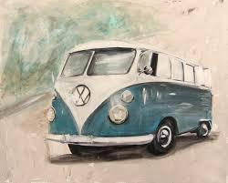 vw bulli t1 blau vw bus art kunst gemalt www anja f de