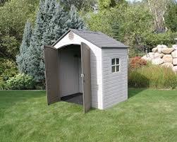 backyard storage shed kits provides ample headroom galvanized
