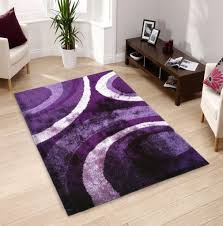 polyester purple living room rugs designed with motif and