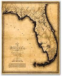 florida map waterproof charts 01s vintage style florida map