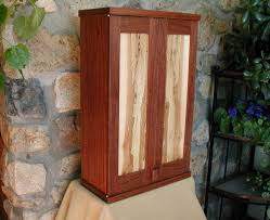 Custom Wall Cabinet by Custom Made Bubinga And Spalted Maple Wall Cabinet By John