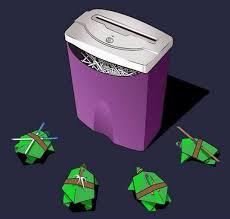 Ninja Turtles Meme - origami teenage mutant ninja turtles versus office shredder