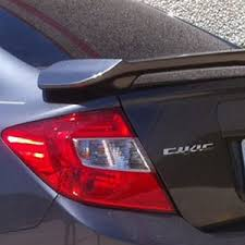 honda civic sedan 2 post painted rear spoiler 2012 2013 2014