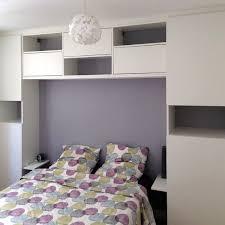 agencement chambre pont de lit en 160cm en mélaminé blanc pour l agencement sur mesure