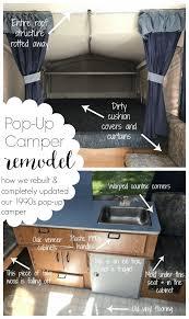 pop up camper remodel reveal refresh living