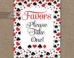 Poker Party Decorations Vegas Party Etsy