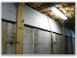 Bowing Basement Wall by 41 Bowed Walls In Basement Bowed Walls Bowed Basement Walls Bowed