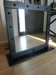 stand alone mirror with lights stand vanity mirror mailgapp me