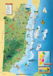 Map Caribbean Sea by Belize Map Free Maps Of Belize And Central America Tourist Map