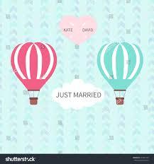 balloons for him wedding blue pink hot air balloons stock vector 311067149
