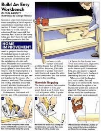 Easy Wood Workbench Plans by Easy Workbench Plans U2022 Woodarchivist