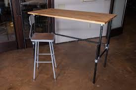 Diy Adjustable Standing Desk Adjustable Standing Desk On Wheels Effortless Diy Adjustable