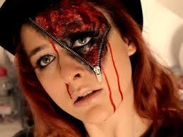 halloween makeup tutorial zipper deutsch youtube