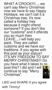 what a we can t say merry now we to say happy