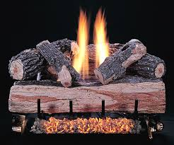 creative gas fireplace log placement decorating idea inexpensive