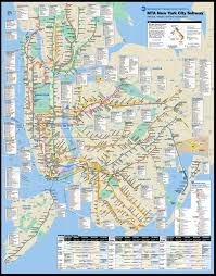 Map New York State by Large New York City Subway Metro Map New York City Large Metro
