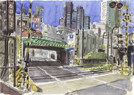 watercolor sketches in japan by olivier part 1 on behance