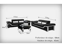 taille canapé 3 places salon set de canapés design 3 3 torino en cuir pop design fr