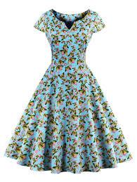 butterfly pattern retro style dress butterfly pattern retro